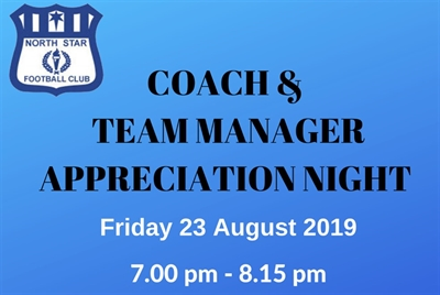 2019  Coach and  Team  Manager  Appreciation  Night